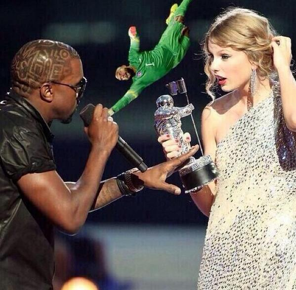 Tim Howard Saves Taylor From Kanye!