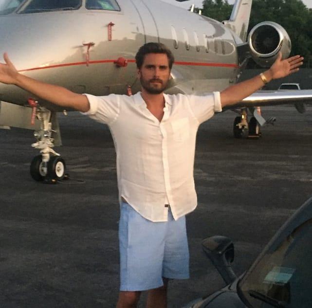 Scott disick and his plane