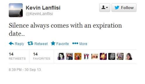 Kevin Lanflisi Tweet 1