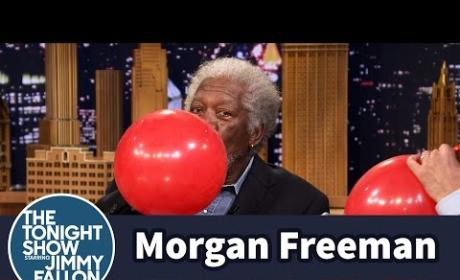 Morgan Freeman Inhales Helum