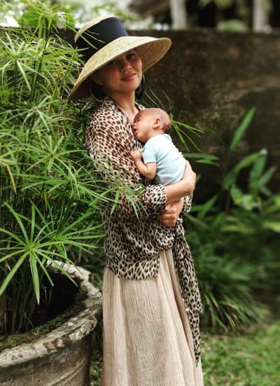 Chrissy Teigen with Her Baby