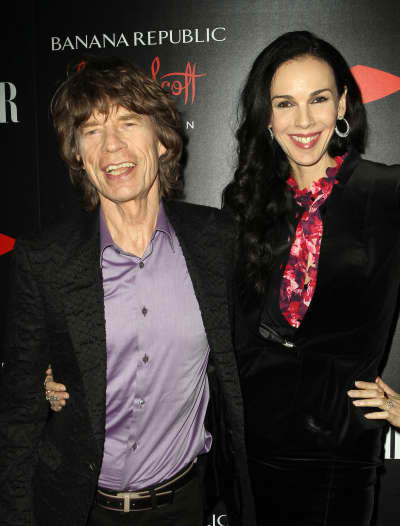 L'Wren Scott and Mick Jagger Pic