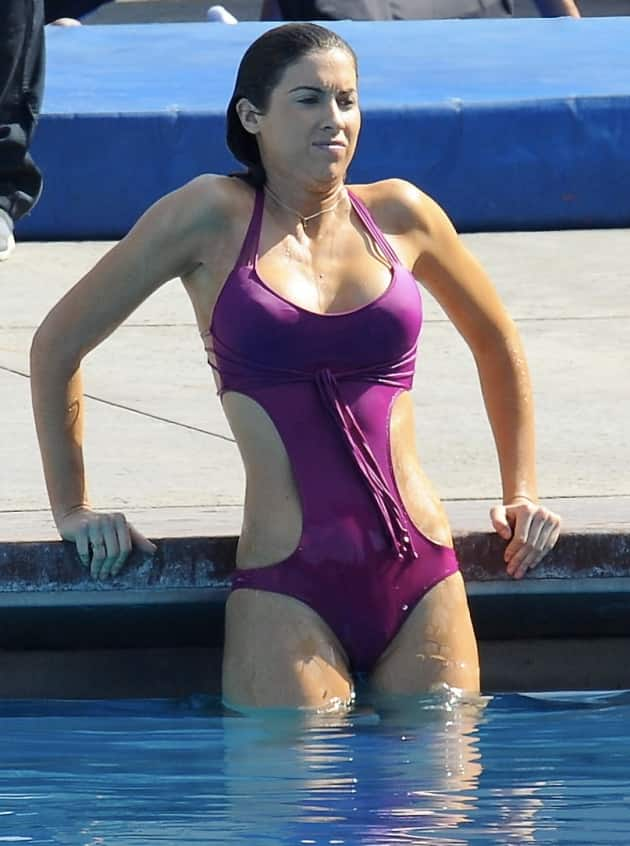 Katherine Webb Gets Wet
