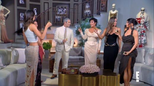 KUWTK Reunion toast - Kylie Jenner and Khloe Kardashian exchange Looks
