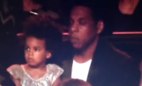 Blue Ivy and Jay Z at VMAs