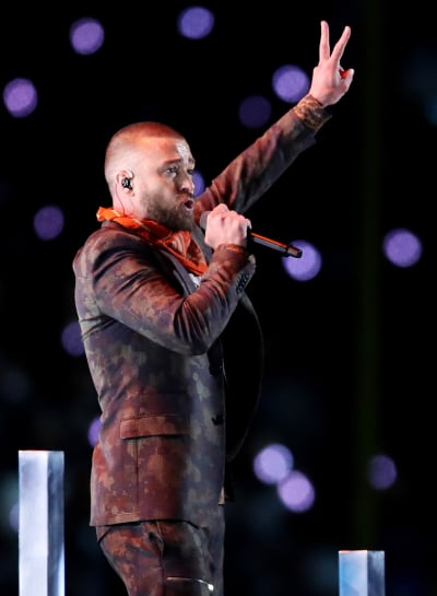 Justin Timberlake at Super Bowl 52