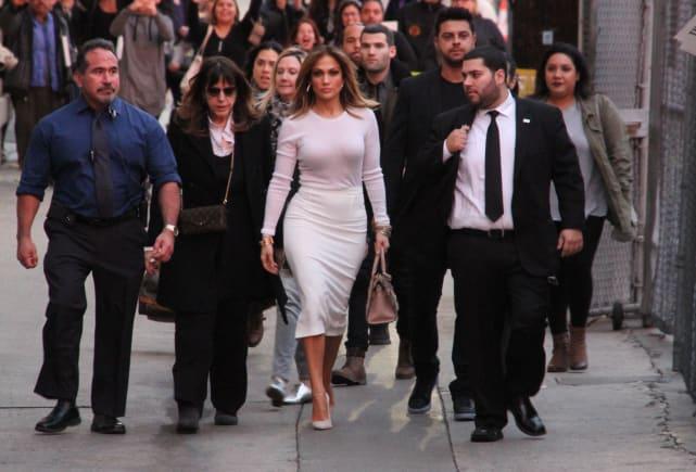 Jennifer Lopez Arrives at Jimmy Kimmel Live!