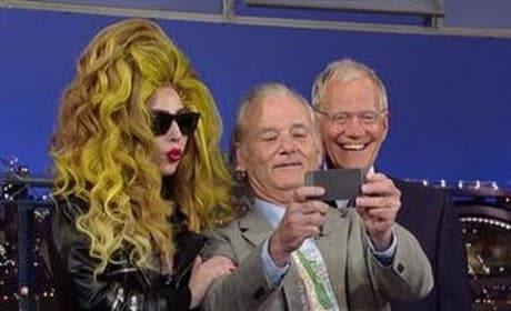 Lady Gaga and Bill Murray on David Letterman