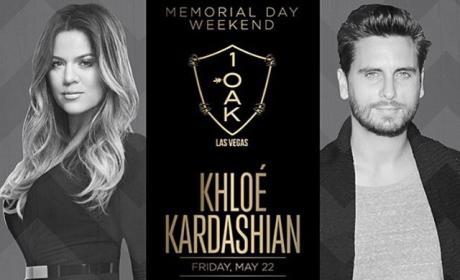 Scott Disick, Khloe Kardashian Birthday Flyer