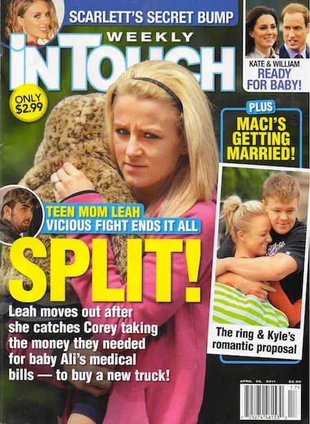 June 2011: Leah and Corey Divorce