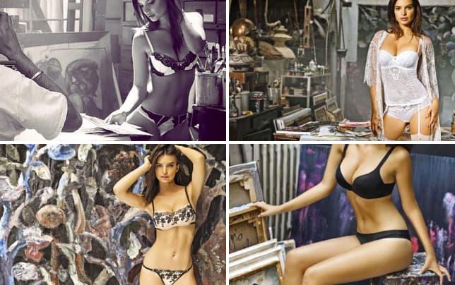 Emily ratajkowski lingerie modeling