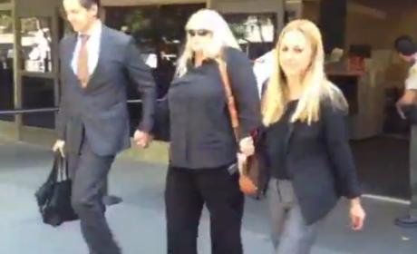Debbie Rowe Leaves Courtroom