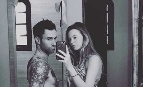 Pregnant Behati Prinsloo... and Adam Levine