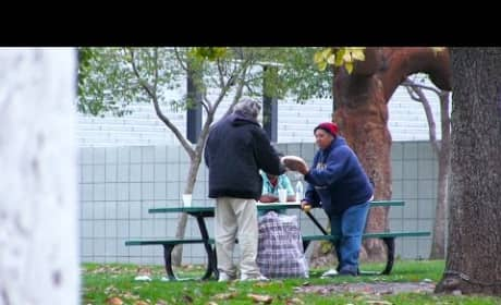 Homeless Man Receives, Spends $100