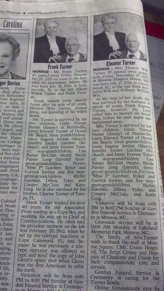 Couple's Obituaries