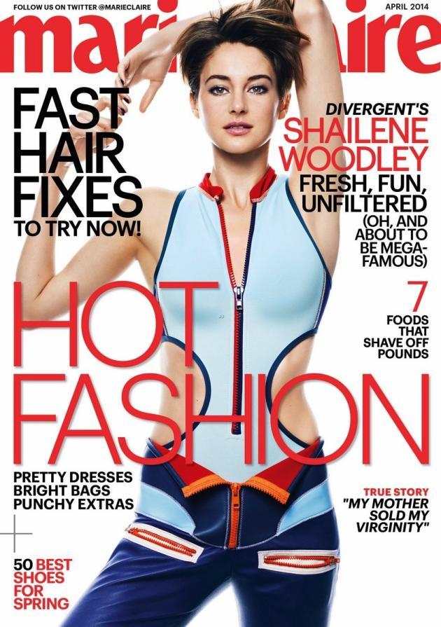 Shailene Woodley Marie Claire Cover