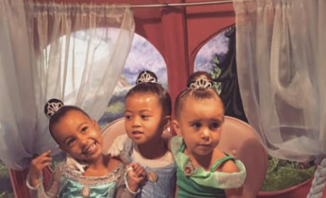 North West and Penelope Disick as Disney Princesses