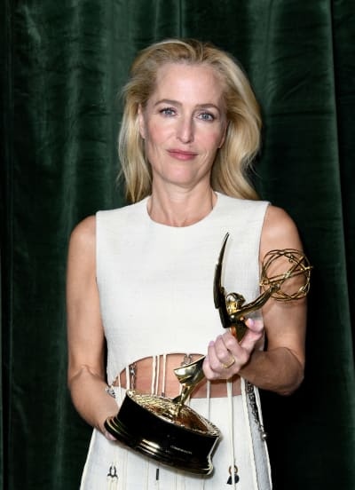 Gillian Anderson With Her Emmy