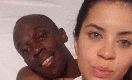Usain Bolt and Jady Duarte