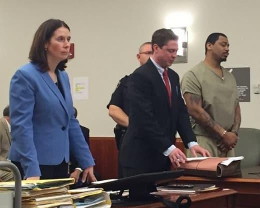 Killer in court