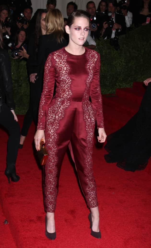 Kristen Stewart in Dark Red
