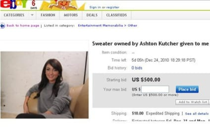 Alleged Ashton Kutcher Infidelity Sweater: For Sale!
