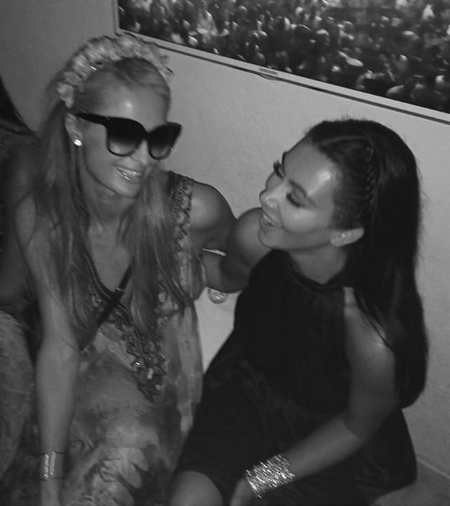 Kim Kardashian with Paris Hilton