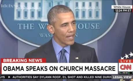 "Barack Obama Addresses ""Heartbreaking "" Charleston Shooting"
