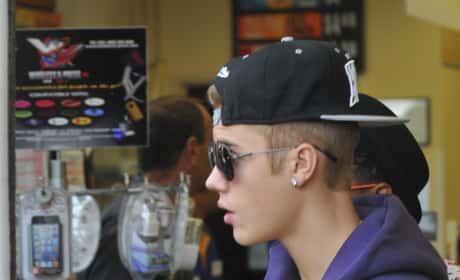 Justin Bieber in a Sweatshirt