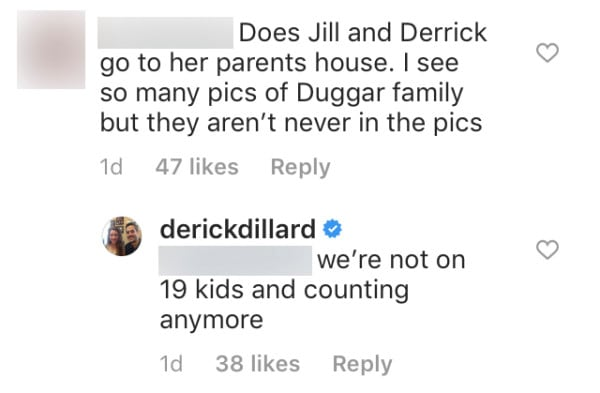 Derick tried to play it cool at first