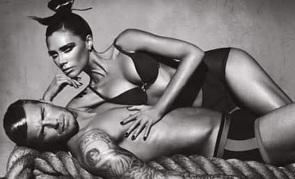 Victoria & David Beckham in Armani Underwear Ads