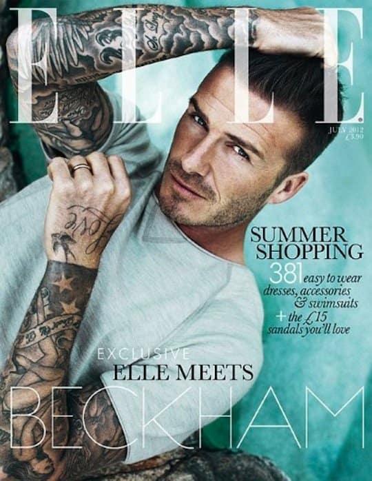 David Beckham Elle UK Cover