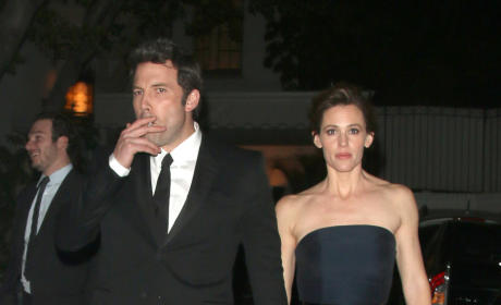Ben Affleck and Jennifer Garner: Smoking!