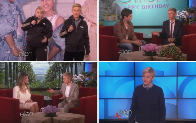 Rebel wilson and ellen degeneres watching cats on the internet