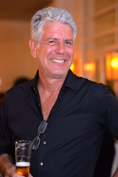 Anthony Bourdain Smiles