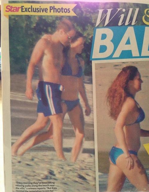 Kate Middleton Pregnant Bikini Picture