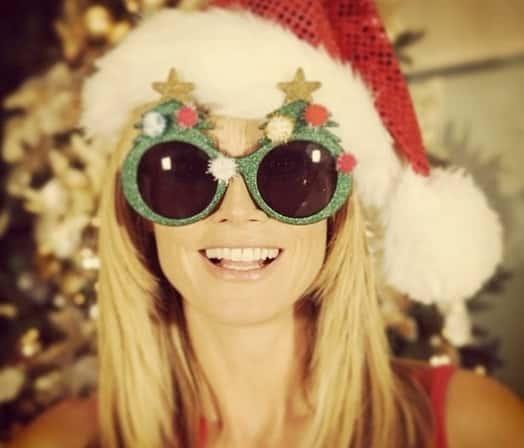 Heidi Klum on Christmas