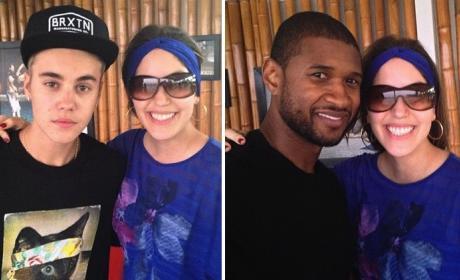 Justin Bieber and Usher in Panama