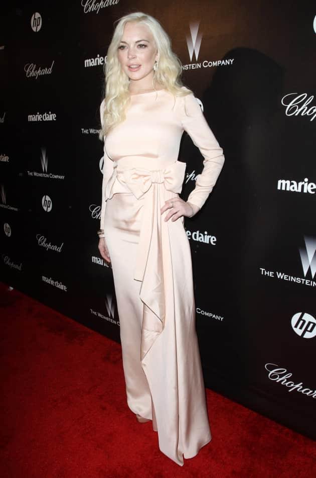 Lindsay Lohan at the Golden Globes