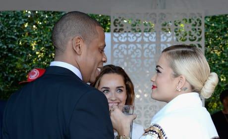 Jay-Z and Rita Ora: Roc Nation Pre-GRAMMY Brunch