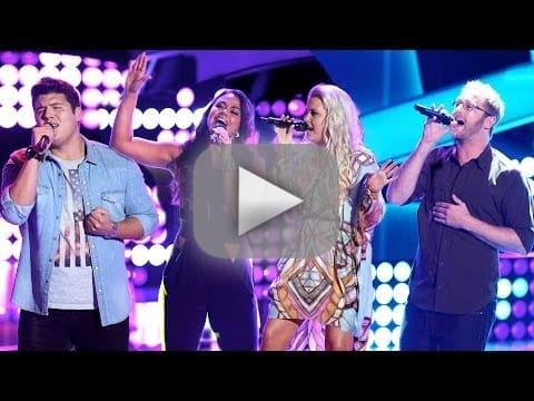 Tess Boyer, Josh Murley, Cali Tucker and Austin Ellis (The Voice Auditions)