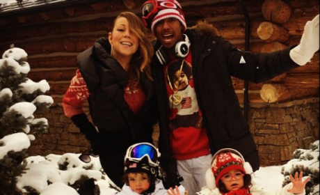 Mariah Carey and Nick Cannon on Christmas