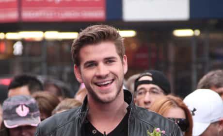 Liam Hemsworth Laughs
