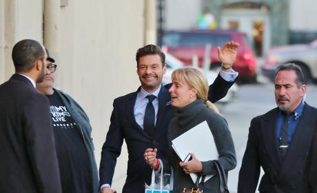 Ryan Seacrest heads Into Jimmy Kimmel Live!