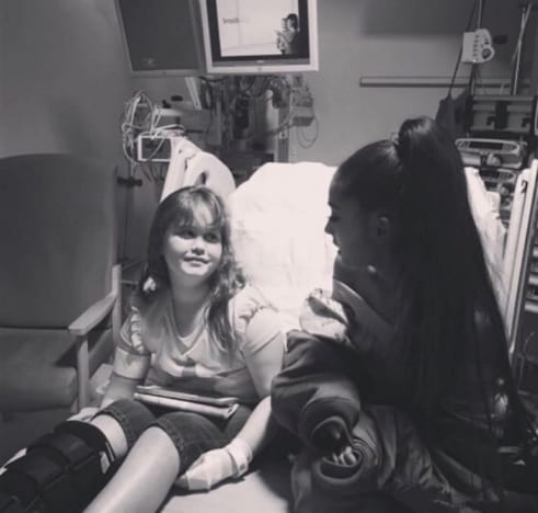 Ariana Grande with Attack Victim