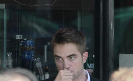 Robert Pattinson on a Set