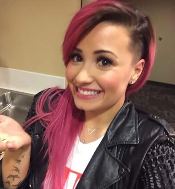 Demi Lovato Shaved Head