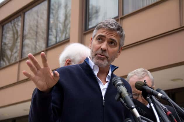 George Clooney Press Conference Pic