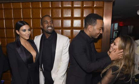 Kim Kardashian, Kanye West, John Legend Chrissy Teigen