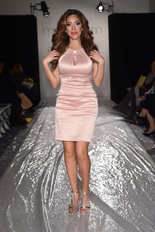 Farrah abraham in a pink dress photo